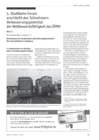 Dokument 5. Stadtbahn Forum erschließt den Teilnehmern Verbesserungspotentiale der Wettbewerbsfähigkeit des ÖPNV – Teil 3