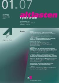 Dokument altlasten spektrum Ausgabe 01 2007