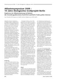 Dokument Altlastensymposium 2008 – 15 Jahre ökologisches Großprojekt Berlin
