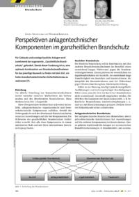 Dokument Perspektiven anlagentechnischer Komponenten im ganzheitlichen Brandschutz