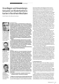 Dokument Grundlagen und Anwendungsbeispiele von Bodenfunktionskarten in Nordrhein-Westfalen