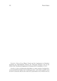 Dokument Günther Mensching (Hrsg.): Gewalt und ihre Legitimation im Mittelalter. Symposium des Philosophischen Seminars der Universität Hannover vom 26.–28. Februar 2002.
