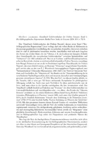 Dokument Herbert Jaumann: Handbuch Gelehrtenkultur der Frühen Neuzeit. Band 1: Bio-bibliographisches Repertorium.