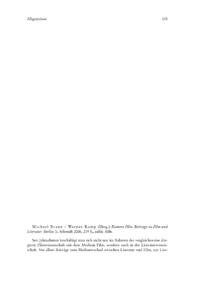Dokument Michael Braun / Werner Kamp (Hrsg.): Kontext Film. Beiträge zu Film und Literatur.