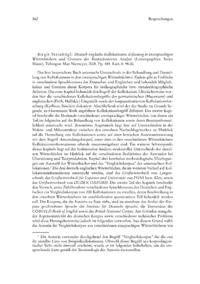 Dokument Birgit Steinbügl: Deutsch-englische Kollokationen. Erfassung in zweisprachigen Wörterbüchern und Grenzen der Korpusbasierten Analyse (Lexicographica. Series Maior).