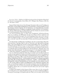 Dokument Susanne Dyka: Probleme der Differenzierung im deutsch-englischen Wörterbuch für Deutsche (Lexicographica. Series Maior, 127).