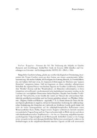 Dokument Stefan Keppler: Grenzen des Ich. Die Verfassung des Subjekts in Goethes Romanen und Erzählungen.
