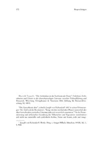 """Dokument Harald Tausch: """"Die Architektur ist die Nachtseite der Kunst"""". Erdichtete Architekturen und Gärten in der deutschsprachigen Literatur zwischen Frühaufklärung und Romantik."""