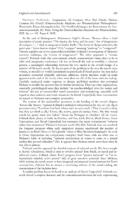 Dokument Herbert Foltinek: Imagination All Compact: How Did Charles Dickens Compose His Novels? (Österreichische Akademie der Wissenschaften: Philosophisch-Historische Klasse, Sitzungsberichte, 733: Veröffentlichungen der Kommission für Literaturwissenschaft, 25).