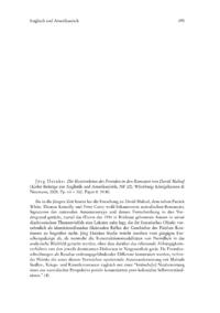 Dokument Jörg Heinke: Die Konstruktion des Fremden in den Romanen von David Malouf (Kieler Beiträge zur Anglistik und Amerikanistik, NF 22).