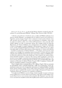 Dokument Bonvesin da la Riva: La Vita di Sant'Alessio. Edizione secondo il codice Trivulziano 93 a cura di Raymund Wilhelm.