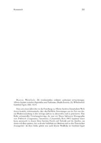 Dokument Martin Weidlich: De revolutionibus ordinum caelestium terrestriumque. Alberto Savinio zwischen Kopernikus und Ptolemäus. (Studia literaria, 12).