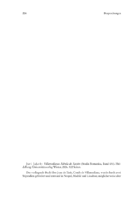Dokument Juri Jakob: Villamedianas Fábula de Faetón (Studia Romanica, Band 131).