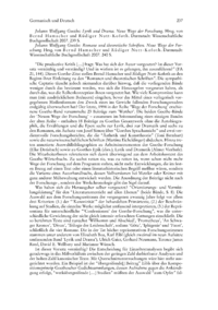 Dokument Johann Wolfgang Goethe: Lyrik und Drama. Neue Wege der Forschung. Hrsg. von Bernd Hamacher und Rüdiger Nutt-Kofoth. / Johann Wolfgang Goethe: Romane und theoretische Schriften. Neue Wege der Forschung. Hrsg. von Bernd Hamacher und Rüdiger Nutt-Kofoth.
