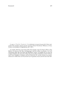 """Dokument Jacques Charles Lemaire: La traduction en moyen français de la lettre anticuriale """"De curialium miseriis epistola"""" d'Aeneas Silvius Piccolomini."""