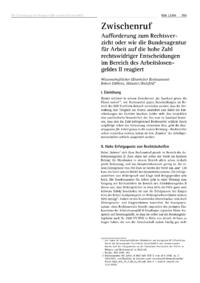Dokument Aufforderung zum Rechtsverzicht oder wie die Bundesagentur für Arbeit auf die hohe Zahl rechtswidriger Entscheidungen im Bereich des Arbeitslosengeldes II reagiert