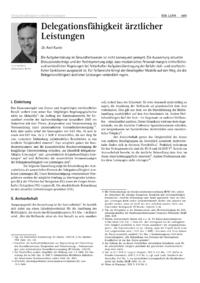 Dokument Delegationsfähigkeit ärztlicher Leistungen