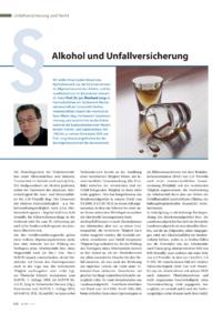 Dokument Alkohol und Unfallversicherung