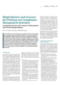 Dokument Möglichkeiten und Grenzen der Prüfung von Compliance-Management-Systemen