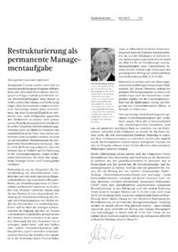 Dokument Restrukturierung als permanente Managementaufgabe