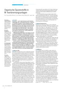 Dokument Organische Spurenstoffe in Müllverbrennungsanlagen