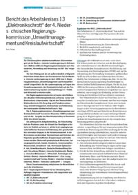 """Dokument Umweltkonsens in Niedersachsen: Ergebnisse der 4. Regierungskommission """"Umweltmanagement und Kreislaufwirtschaft"""" der Niedersächsischen Landesregierung"""