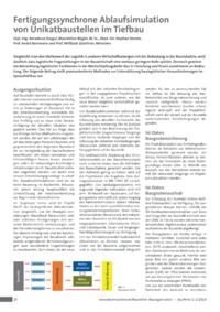 Dokument Fertigungssynchrone Ablaufsimulation von Unikatbaustellen im Tiefbau
