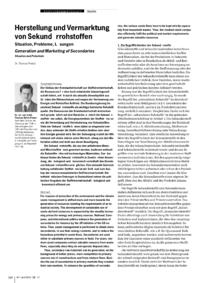Dokument Herstellung und Vermarktung von Sekundärrohstoffen