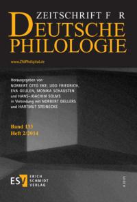 Dokument Zeitschrift für deutsche Philologie Ausgabe 02 2014