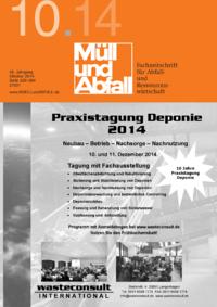 Ausgabe MÜLL und ABFALL Ausgabe 10 2014