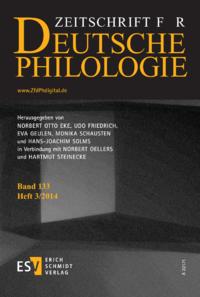 Dokument Zeitschrift für deutsche Philologie Ausgabe 03 2014