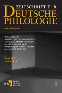 Dokument Zeitschrift für deutsche Philologie Ausgabe 04 2014