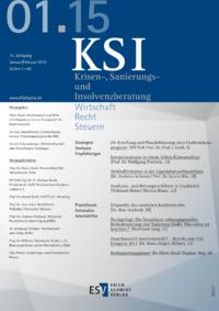 Dokument Krisen-, Sanierungs- und Insolvenzberatung Ausgabe 01 2015
