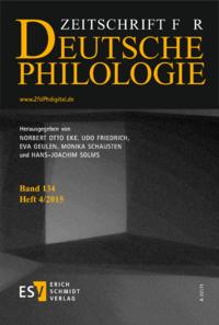 Dokument Zeitschrift für deutsche Philologie Ausgabe 01 2015