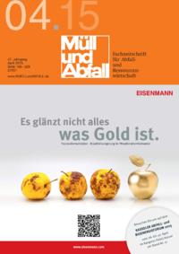 Ausgabe MÜLL und ABFALL Ausgabe 04 2015