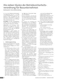 Dokument Die sieben Säulen der Betriebssicherheitsverordnung für Bauunternehmen
