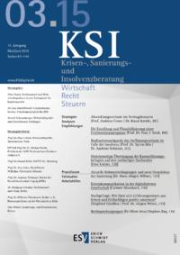 Dokument Krisen-, Sanierungs- und Insolvenzberatung Ausgabe 03 2015
