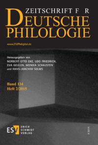 Dokument Zeitschrift für deutsche Philologie Ausgabe 02 2015