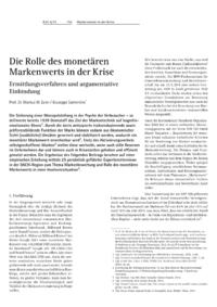 Dokument Die Rolle des monetären Markenwerts in der Krise
