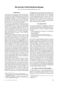 Dokument Die private Geldverkehrsrechnung
