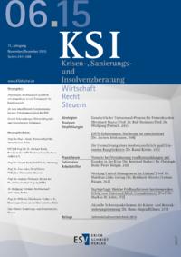 Dokument Krisen-, Sanierungs- und Insolvenzberatung Ausgabe 06 2015