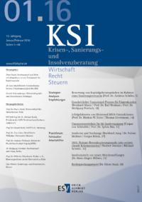 Dokument Krisen-, Sanierungs- und Insolvenzberatung Ausgabe 01 2016