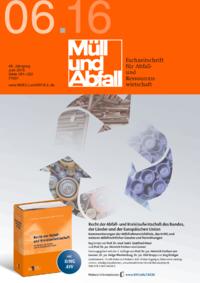 Ausgabe MÜLL und ABFALL Ausgabe 06 2016