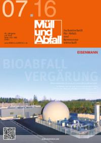 Ausgabe MÜLL und ABFALL Ausgabe 07 2016