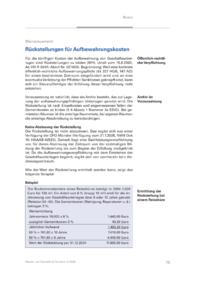 Dokument Rückstellungen für Aufbewahrungskosten