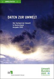 Daten zur Umwelt 2005 – Der Zustand der Umwelt in Deutschland Ausgabe 2005