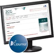 Produktbild Zeitschrift f�r Corporate Governance