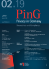 aktuelle Ausgabe PinG Privacy in Germany
