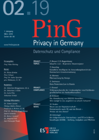 Dokument PinG Privacy in Germany Ausgabe 02 2019