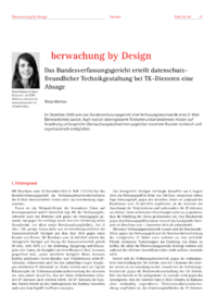 Dokument Überwachung by Design